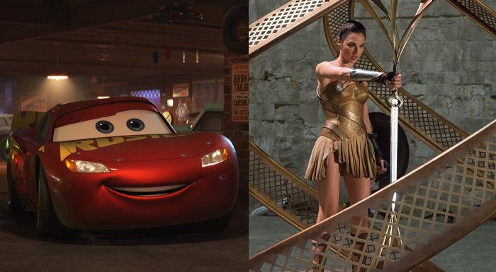 <카> 시리즈 전작 성적을 천천히 따라잡고 있는 <카3: 새로운 도전>. 패티 젠킨스 감독은 <원더 우먼>으로 최고 흥행 여성감독이 됐다. 사진 월트 디즈니 컴퍼니 코리아, 워너브러더스 코리아