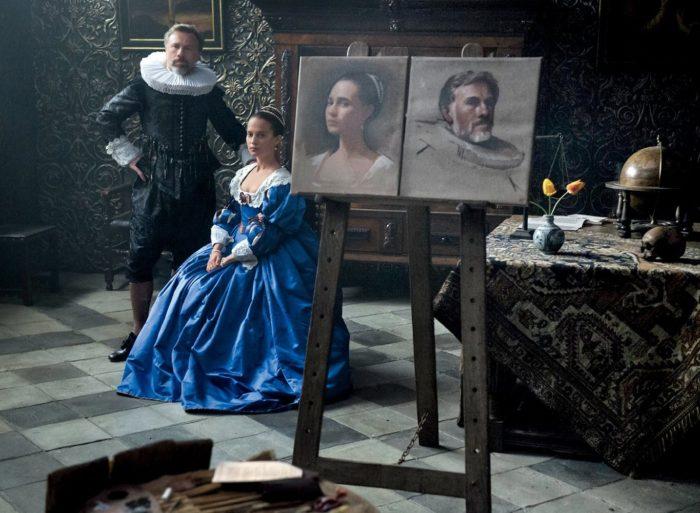 알리시아 비칸데르와 데인 드한 주연작 <튤립 피버>가 9월 1일 북미 개봉한다. <튤립 피버>는 1634년 튤립 열풍이 불던 암스테르담에서 만난, 거상의 젊고 아름다운 신부 소피아(알리시아 비칸데르)와 하층 계급인 화가 얀(데인 드한)의 금지된 사랑 이야기다. 사진 <튤립 피버> 해외 스틸