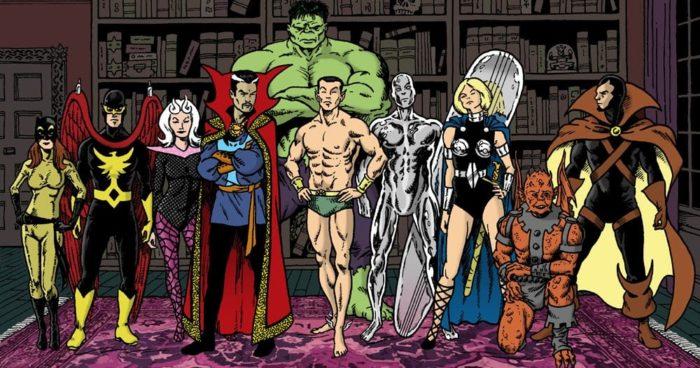 <토르: 라그나로크>에 등장하는 아스가르드의 여전사 발키리, 녹색 괴물 헐크, 우주 최고의 마법사 닥터 스트레인지는 마블 코믹스의 슈퍼 히어로팀 '더 디펜더스'의 멤버다. '더 디펜더스'는 악마와 싸우던 닥터 스트레인지가 시발점이 된 조직이다. 사진 마블 코믹스
