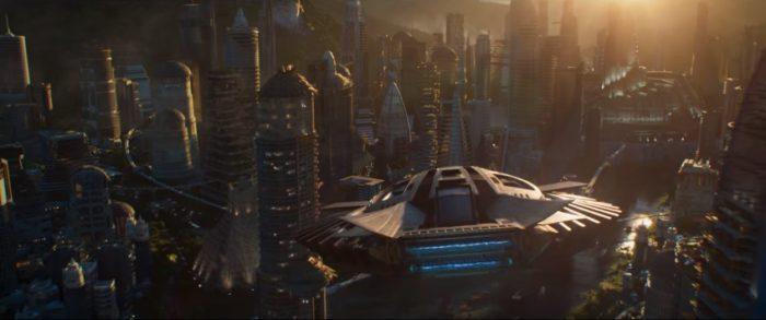 영화의 주요 배경이 되는 와칸다 왕국은 최강의 희귀 금속 비브라늄으로 세워진 최첨단 기술 도시다. 사진 월트디즈니컴퍼니코리아