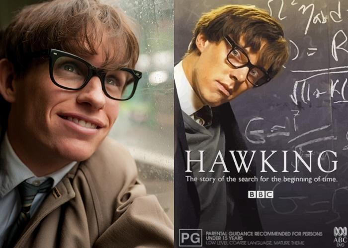에디 레드메인과 베네딕트 컴버배치 등 영국을 대표하는 연기파 배우들이 스티븐 호킹의 전기 영화에 출연했다. 사진 UPI 코리아, BBC