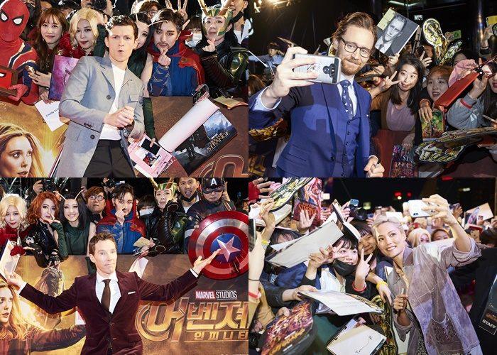 약 7,500명의 팬들이 마블의 히어로들을 보기 위해 코엑스 동측광장에 운집했다. 사진 월트디즈니컴퍼니 코리아