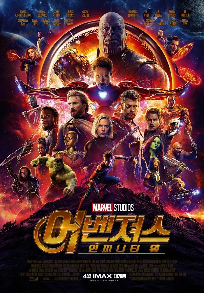 주요 캐릭터만 22명이 등장하는 '어벤져스: 인피니티 워'. 포스터에도 히어로들의 모습이 빼곡하다. 사진 월트 디즈니 컴퍼니 코리아