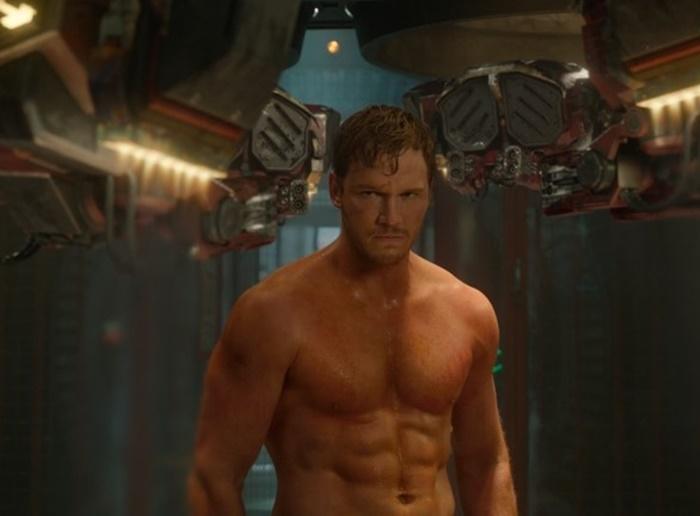 '가디언즈 오브 갤럭시' 스타로드의 근육질 몸매는 크리스 프랫이 극한의 다이어트로 완성했다. 사진 월트 디즈니 컴퍼니 코리아