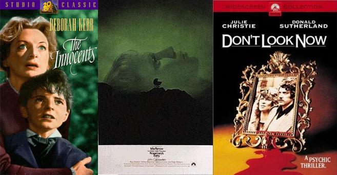 아리 에스터 감독은 1960~1970년대에 제작된 공포영화를 참고했다. 사진 '공포의 대저택' '로즈메리의 아기' '지금 보면 안 돼' 포스터