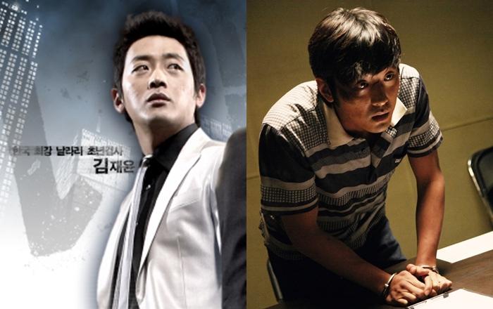 하정우는 유영철 사건을 모티브로 한 드라마와 영화에서 각각 검사와 연쇄살인마 역을 연기했다. 사진 (좌) MBC, (우) 쇼박스