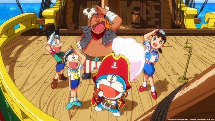 '극장판 도라에몽: 진구의 보물섬'은 일본 대표 프로듀서 카와무라 겐가 각본에 참여했다. 키사진 이수C&E