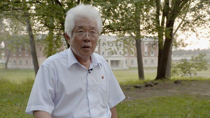 북한 영화계의 원로 박정주 감독. 그의 최근작은 핵탄두의 필요성을 말하는 스릴러다. 사진 독포레스트