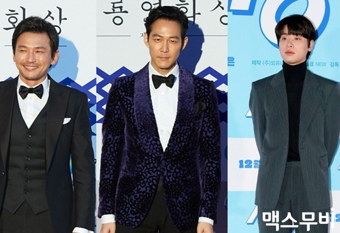배우 황정민, 이정재, 박정민(왼쪽부터). 사진 맥스무비DB