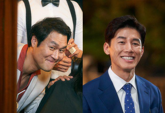 영화 '정직한 후보' 배우 윤경호(왼쪽)와 김무열 스틸. 사진 NEW