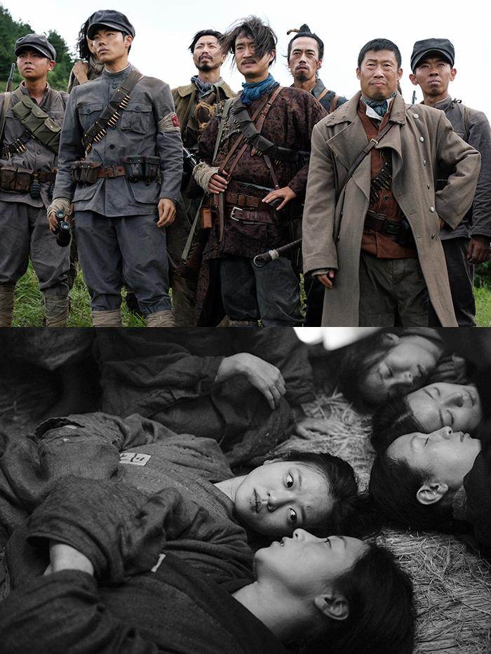 영화 '봉오동 전투', '항거: 유관순 이야기' 스틸(위쪽부터). 사진 쇼박스, 롯데엔터테인먼트