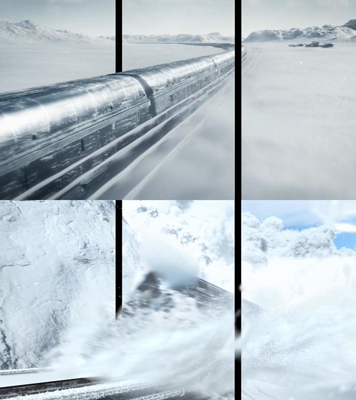 '설국열차' 3D 분할 영상 캡쳐. 사진 넷플릭스