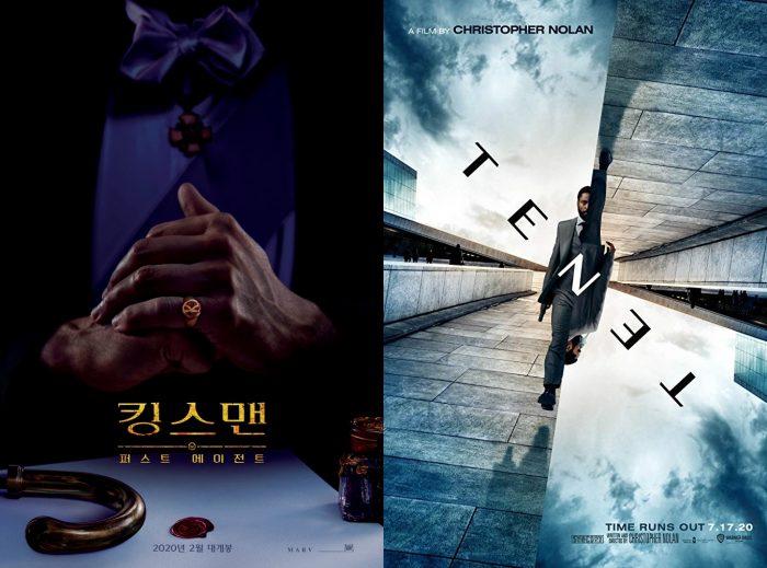 영화 '킹스맨: 퍼스트 에이전트', '테넷' 포스터. 사진 월트 디즈니 컴퍼니 코리아, 워너브러더스 코리아