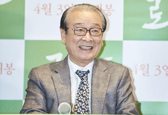 배우 이순재. 영화 '로망' 언론시사회 현장. 사진 메리크리스마스