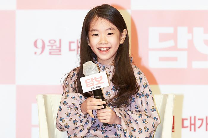 배우 박소이가 질문에 답하고 있다. 사진 CJ 엔터테인먼트